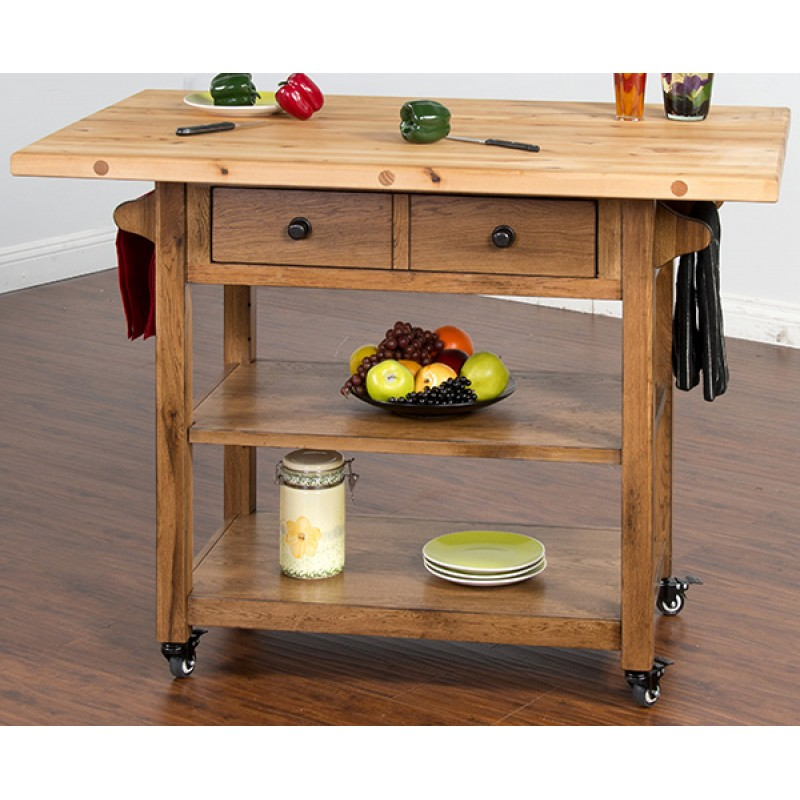 2238ro Butcher Block Table W Drop Leaf