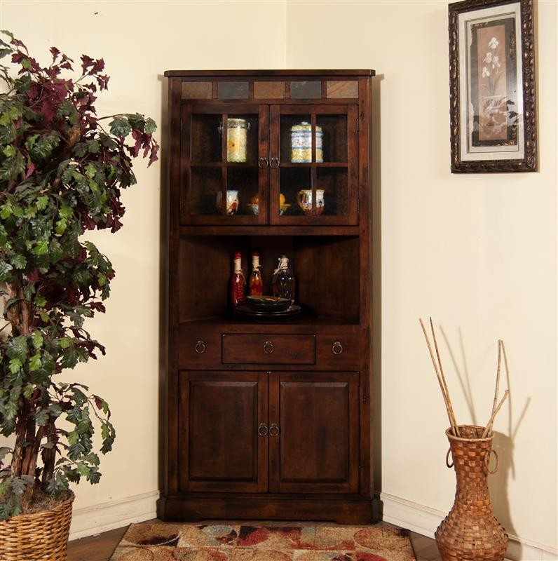 Santa Fe Corner China Cabinet Beauteous Sunny Designs Furniture Retailer